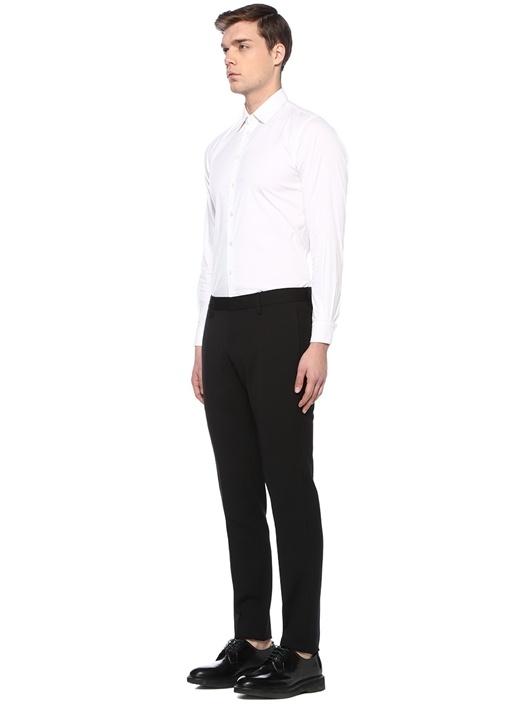 Admiral Fit Siyah Yüksek Bel Yün Pantolon