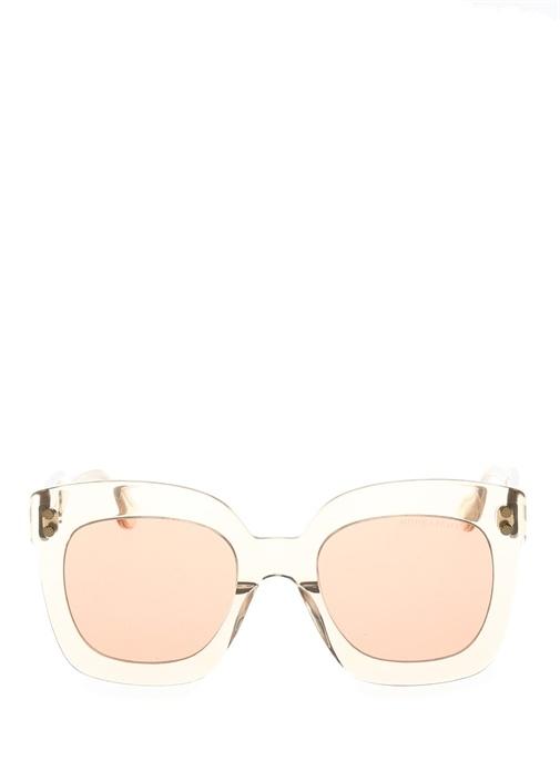 Bottega Veneta Nude Oversize Kadın Güneş Gözlüğü – 2249.0 TL