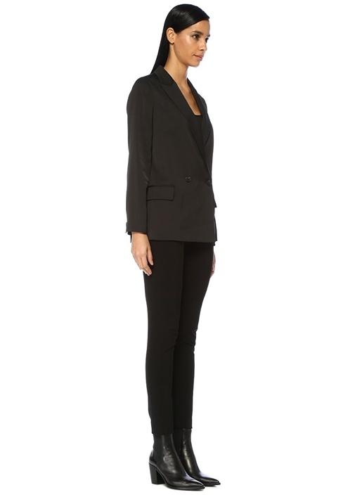 Jelsa Siyah Kırlangıç Yaka Kruvaze Blazer Ceket