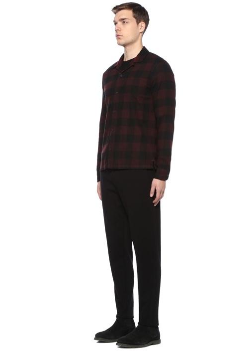 Boulder Siyah Kırmızı İngiliz Yaka Ekoseli Gömlek