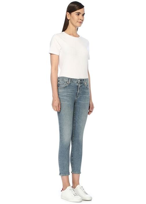 Rocket Yüksek Bel Crop Skinny Jean Pantolon