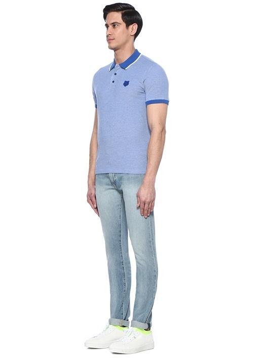 Mavi Kaplan Patchli Polo Yaka T-shirt