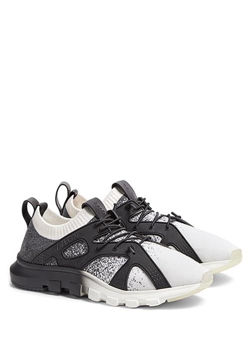 Techmerino Siyah Beyaz Erkek Sneaker