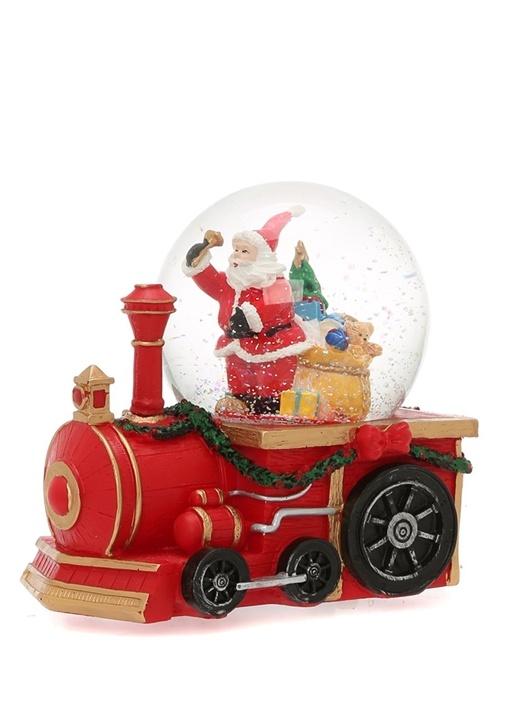 Kırmızı Tren Formlu Cam Küre