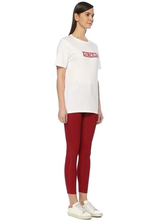 Bella Voltaire Beyaz Kırmızı Baskılı T-shirt