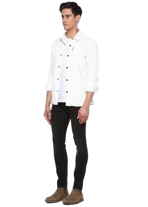 Beyaz İngiliz Yaka Dış Gömlek
