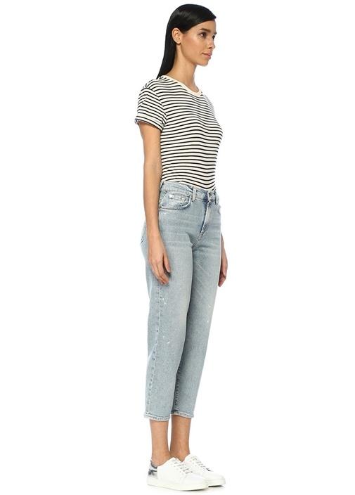 Malia Yüksek Bel Mom Fit Crop Jean Pantolon
