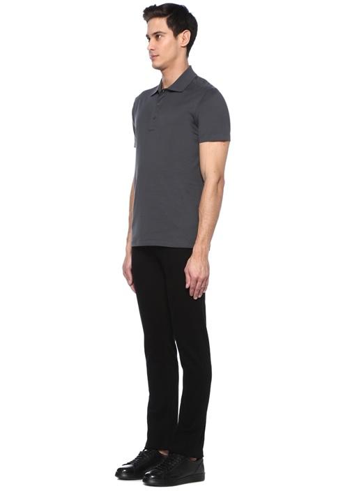 Antrasit Dikiş Detaylı Polo Yaka T-shirt