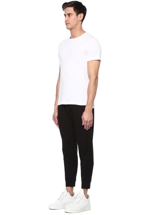 James Beyaz Bisiklet Yaka Basic T-shirt