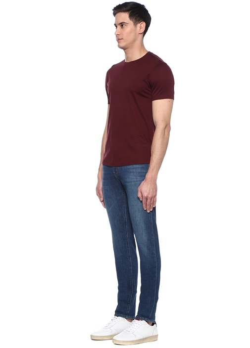 James Bordo Bisiklet Yaka Basic T-shirt