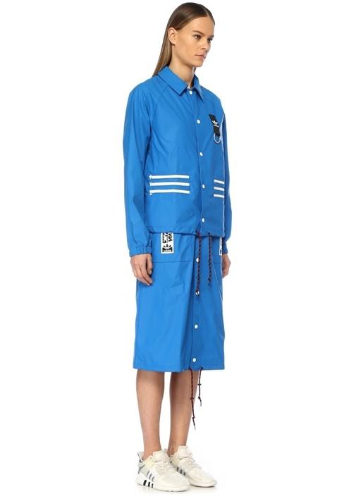 Olivia Leblanc Mavi Çıkarılabilir Pardösü