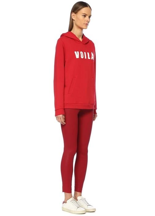 Voila Kırmızı Kapüşonlu Sweatshirt