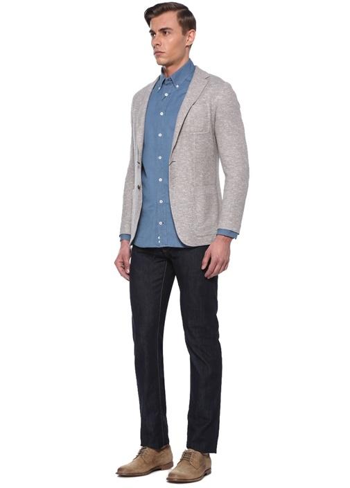 Lacivert Normal Bel Boru Paça Jean Pantolon