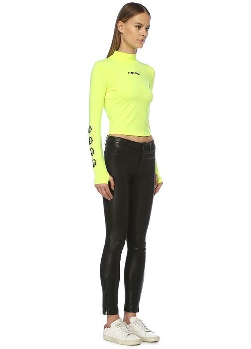 Eclypse Energy Neon Sarı Dil Yaka Sweatshirt
