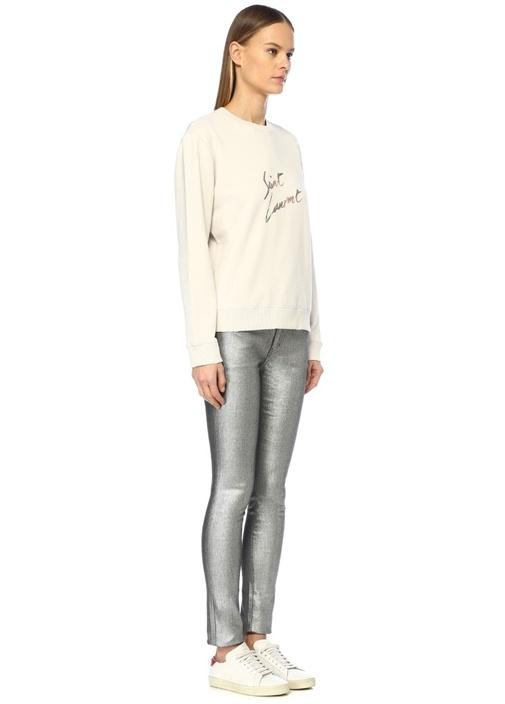 Silver Yüksek Bel Skinny Jean Pantolon