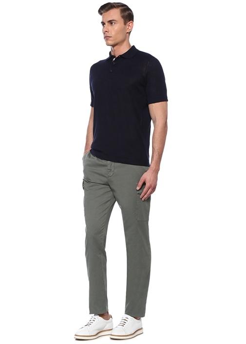 Haki Normal Bel Dar Paça Kargo Pantolon