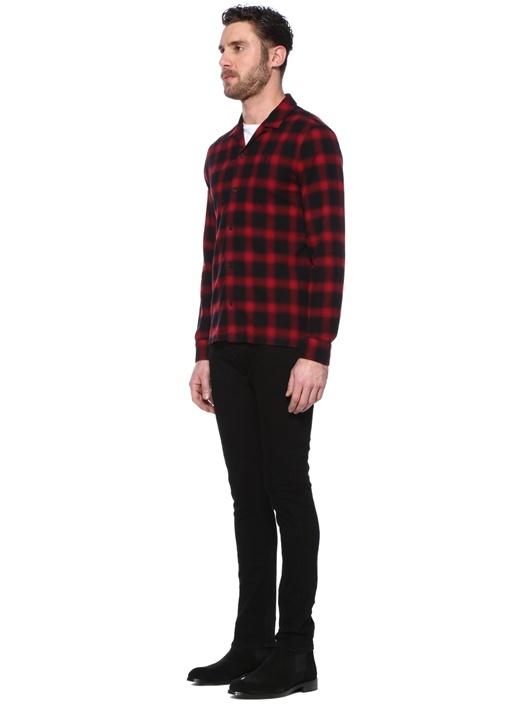 Clyde Kırmızı Siyah Ekose Desenli Gömlek
