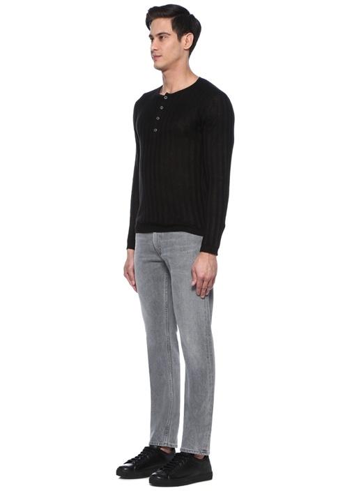 Bowery Standart Slim Fit Gri Jean Pantolon