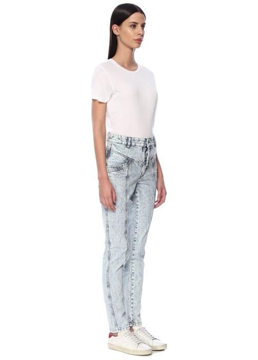 Lorricka Yüksek Bel Dikişli Slim Fit Jean Pantolon