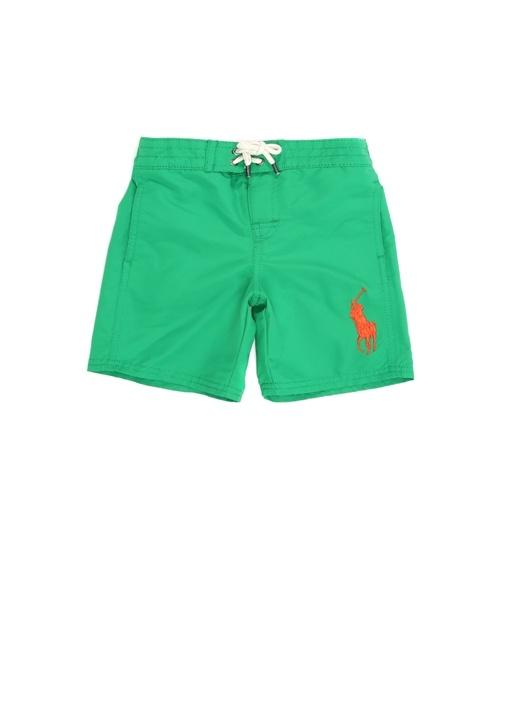 Yeşil Normal Bel Logolu Erkek Çocuk Mayo