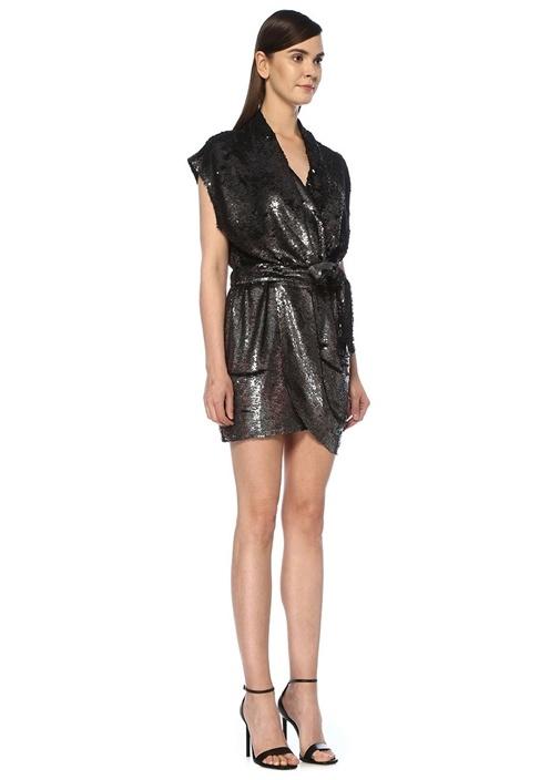 Slaneye Silver Payet İşlemeli Mini Anvelop Elbise