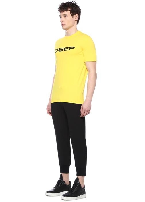 Siyah Düşük Ağlı Dekoratif Dikişli Jogger Pantolon