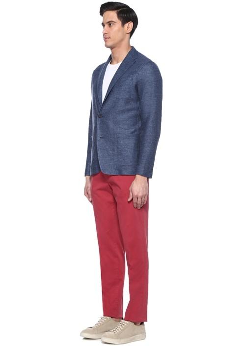 Bordo Normal Bel Kanvas Pantolon
