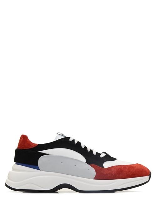 Colorblocked Logolu Erkek Sneaker