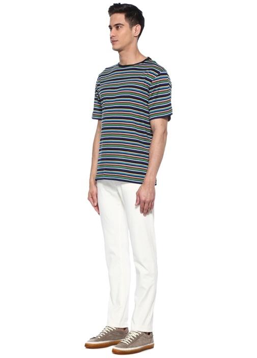 Colorblocked Çizgili Basic T-shirt