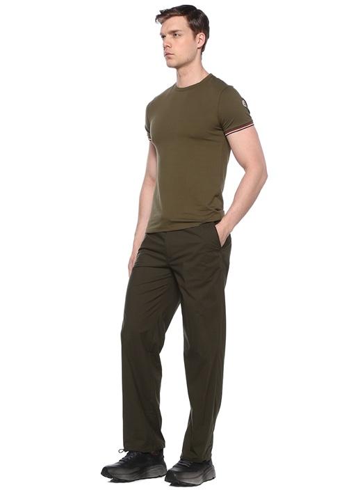 Haki Beli Kemerli Boru Paça Pantolon