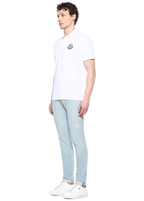 Genius 2 Beyaz Logolu Polo Yaka T-shirt