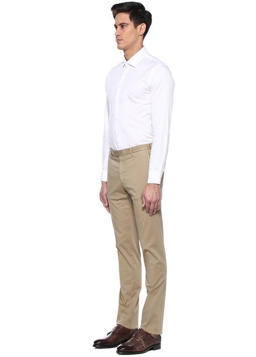Bej Normal Bel Kanvas Pantolon