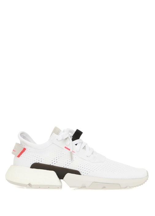 POD S3 1 Beyaz Logolu Erkek Sneaker