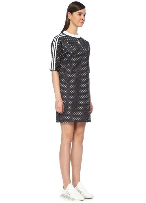8cd95c1b9e6fd Adidas Siyah KADIN Siyah Beyaz Puantiyeli Mini Spor Elbise 597680 ...