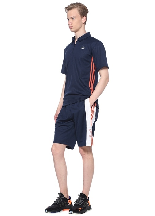 Relaxed Fit Outline Lacivert Şort