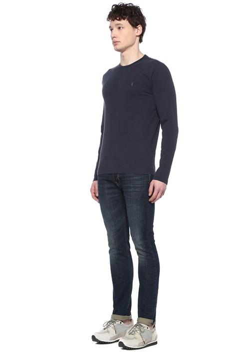 Brace Lacivert Bisiklet Yaka Uzun KolluT-shirt