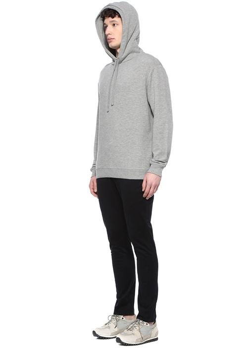 Gaiety Gri Kapüşonlu Sweatshirt