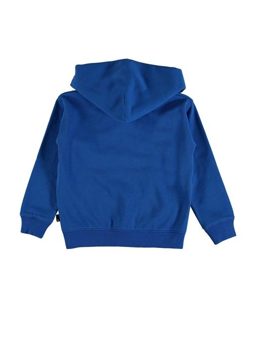 Macci Mavi Kapüşonlu Erkek Çocuk Sweatshirt