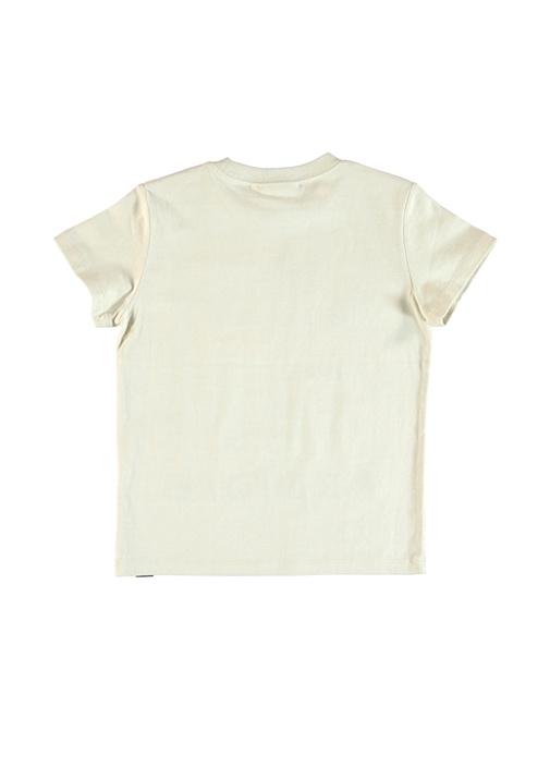 Raymont Bej Yazı Nakışlı Erkek Çocuk T-shirt