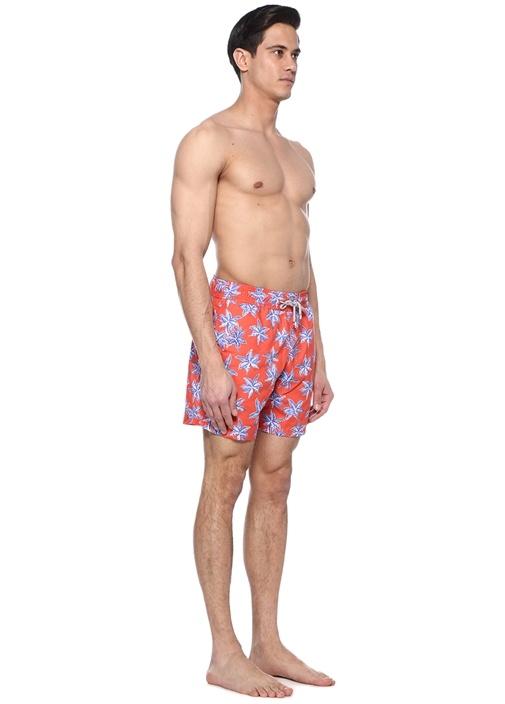 Moringa Kırmızı Deniz Yıldızı Baskılı Erkek Şort