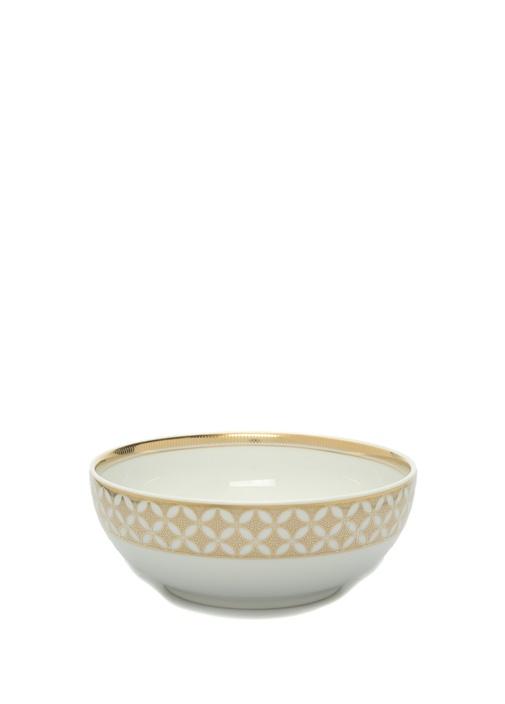 Gold Exotic Mikro Desenli Porselen Kase