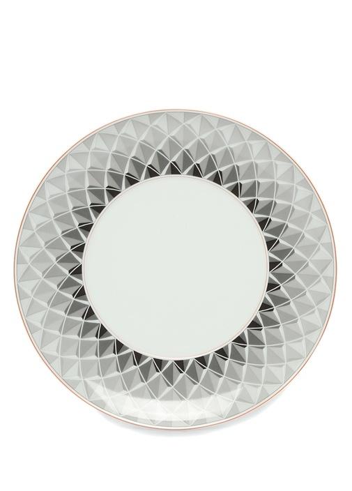 Maya Mikro Desenli Porselen Tatlı Tabağı