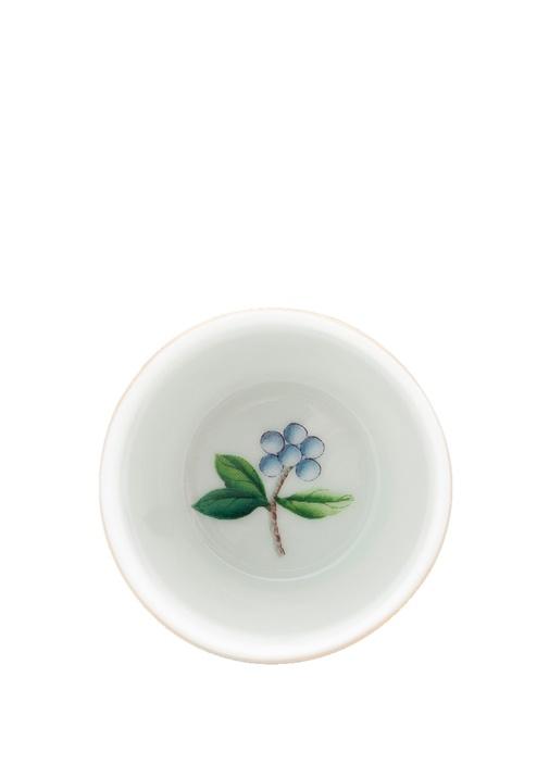 Blushing Birds Mavi Çiçekli Porselen Yumurtalık