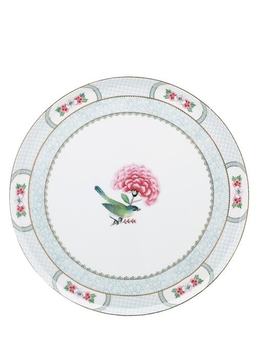 Blushing Birds Çiçek Desenli Porselen Kek Standı