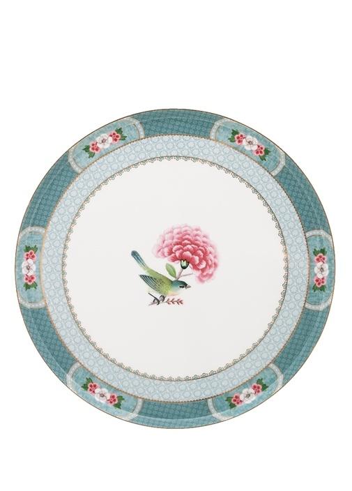 Blushing Birds Baskılı Porselen Kek Standı
