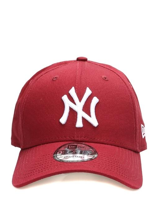 New York Nakışlı Bordo Erkek Şapka