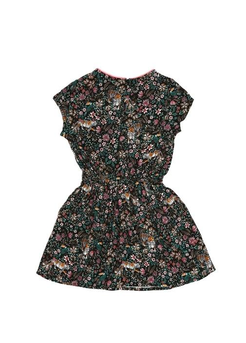 Colorblocked Karışık Desenli Kız Çocuk Elbise