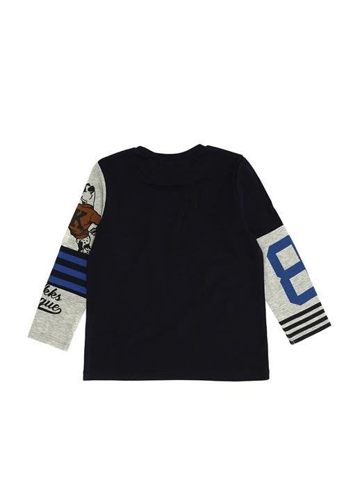 Lacivert Baskılı Erkek Çocuk T-shirt