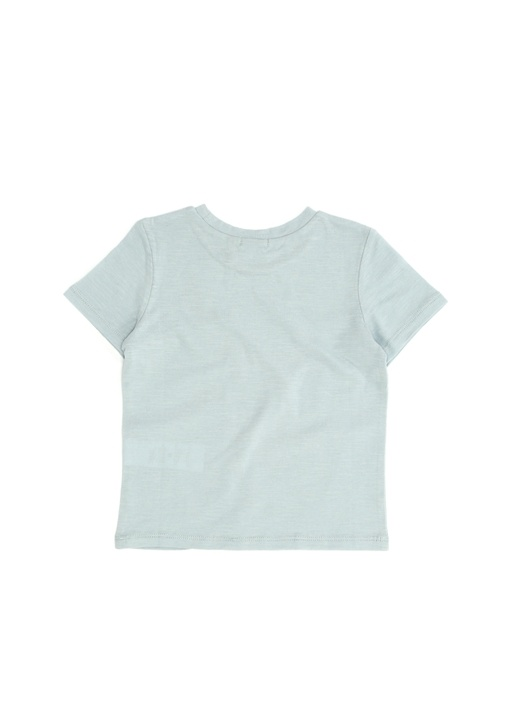 Mavi Baskılı Erkek Çocuk T-shirt