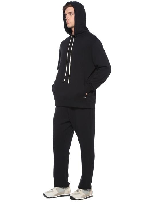 Avio Siyah Kapüşonlu Sweatshirt